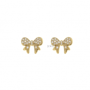 14K Gold 0.20 Ct. Natural Diamond Unique Butterfly Earrings Fine Jewelry