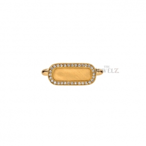 14K Gold 0.48 Ct. Natural Diamond Signet Ring Fine Jewelry Size - 3 to 9 US