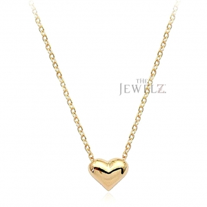 14K Solid Gold 2.75 Gms. Heart Charm Pendant Necklace Fine Jewelry - New Arrival