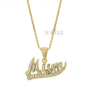 14K Gold 0.25 Ct. Genuine Diamond Mum Pendant Necklace Mother's Day Special Gift