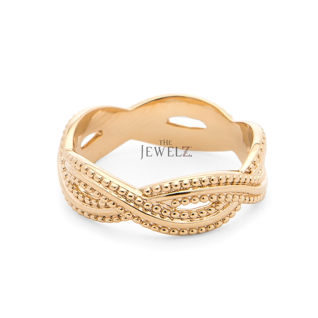 14K Solid Gold Wedding Engagement Wide Band Ring Fine Jewelry Size - 5 to 8 US