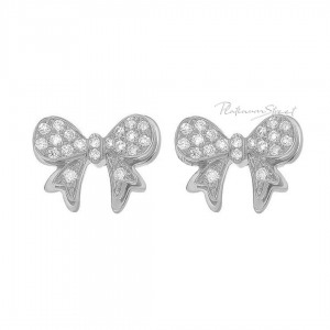 950 Platinum 0.20 Ct. Genuine Diamond Unique Butterfly Earrings Fine Jewelry