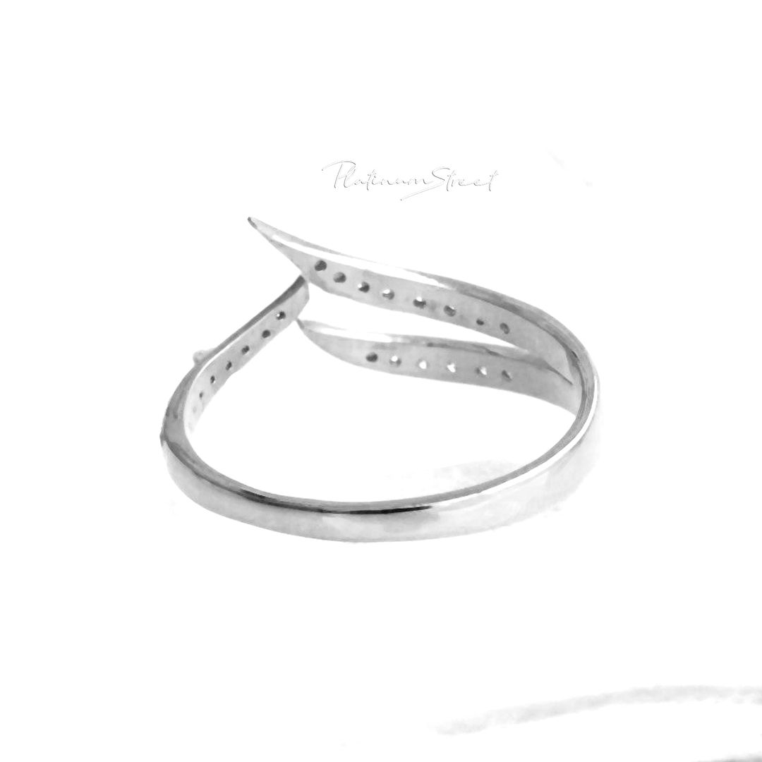 Chevron Design Hand Engraved 2mm Ring available in 950 Platinum Yellow or Rose Gold 925 Sterling Silver 18ct /& 9ct White
