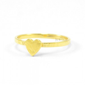 14K Solid Plain Gold Love Heart Band Handmade Ring Fine Jewelry