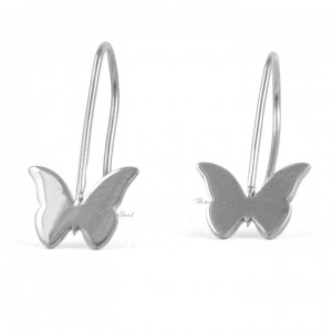950 Platinum Butterfly Hook Earrings Gift For Mother Daughter Fine Jewelry
