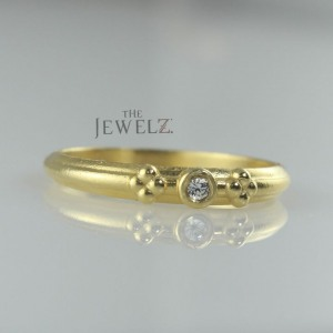 14K Gold 0.03 Ct. Genuine Diamond Vintage Style Ring Fine Jewelry Size-3 to 8 US