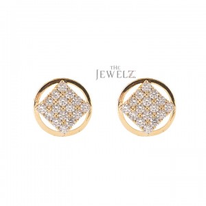 14K Gold 0.32 Ct. Genuine Diamond Minimalist Studs Earrings Jewelry Gift For Her