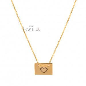 14K Solid Gold Love Heart Pendant Necklace Gift For Loved One