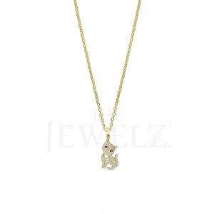 14K Gold VS Clarity Genuine Diamond Baby Cat Pendant Necklace Pet Lover Gift