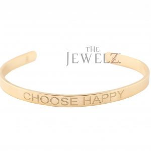 14K Solid Gold Personalized Messages/Script Cuff Bangle Bracelet Fine Jewelry