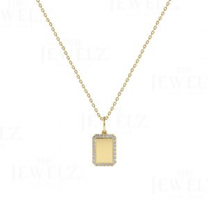 Diamond Initial Personalized Necklace